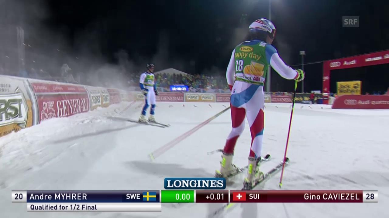 Ski:Parallel-RS, Alta Badia, Viertelfinal Caviezel-Myhrer