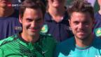 Video «Federer und Wawrinka begeistern in Indian Wells» abspielen