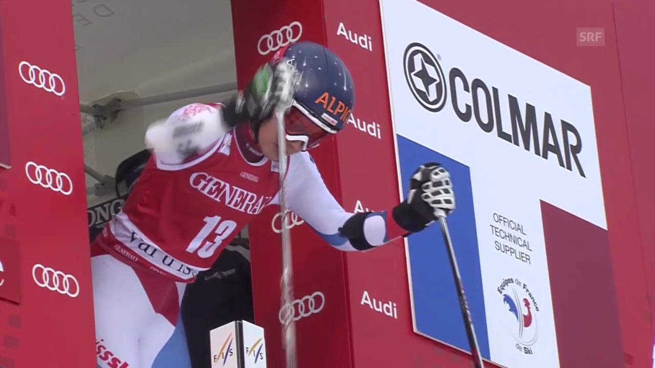 Ski: Riesenslalom Frauen Val d'Isère, 1. Lauf von Dominique Gisin