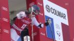 Video «Ski: Riesenslalom Frauen Val d'Isère, 1. Lauf von Dominique Gisin» abspielen