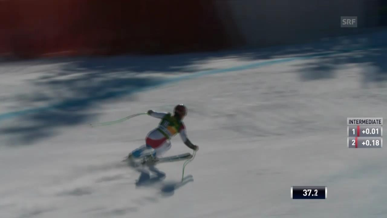 Ski: Super-G Lake Louise, Fahrt von Küng