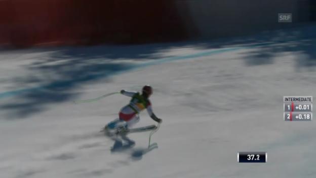 Video «Ski: Super-G Lake Louise, Fahrt von Küng» abspielen
