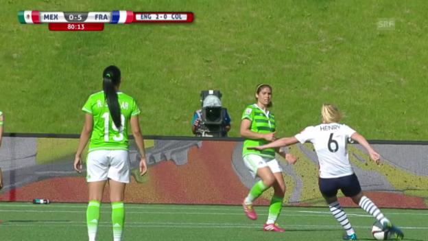 Video «Fussball:Frauen-WM in Kanada, Traumtor von Henry zum 5:0 für Frankreich» abspielen