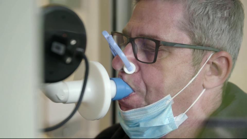 Stephan Feuz beim Lungenfunktionstest im September