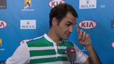 Video «Federer zieht nach Dimitrov-Match Bilanz» abspielen