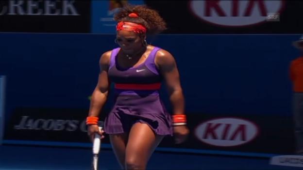 Video «Tennis: Matchbälle von Williams und Asarenka» abspielen