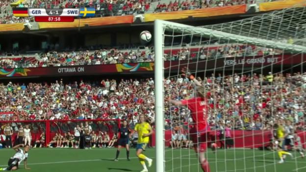 Video «Fussball: Frauen-WM, Deutschland - Schweden, 4:1 von Dzsenifer Marozsan» abspielen