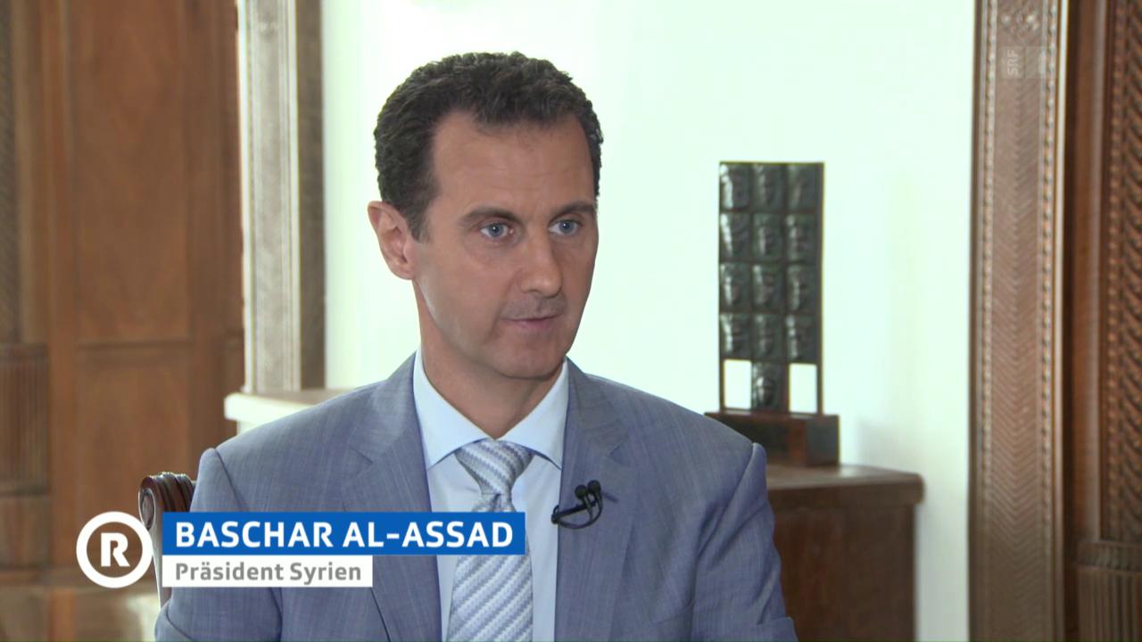 Baschar al-Assad im Gespräch mit SRF (mit deutscher Übersetzung)