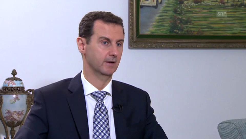 Auszug aus dem Interview mit Baschar al-Assad
