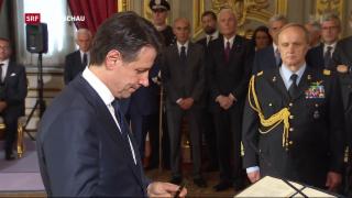 Video «Italiens neuer Regierungschef vereidigt» abspielen