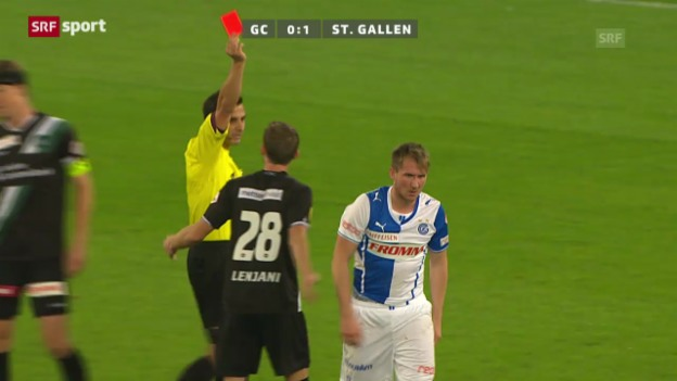 Video «GC - St. Gallen: Tätlichkeit von Hajrovic» abspielen
