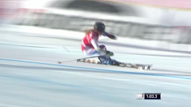 Video «Ski: Riesenslalom Frauen Val d'Isère, 1. Lauf von Lara Gut» abspielen
