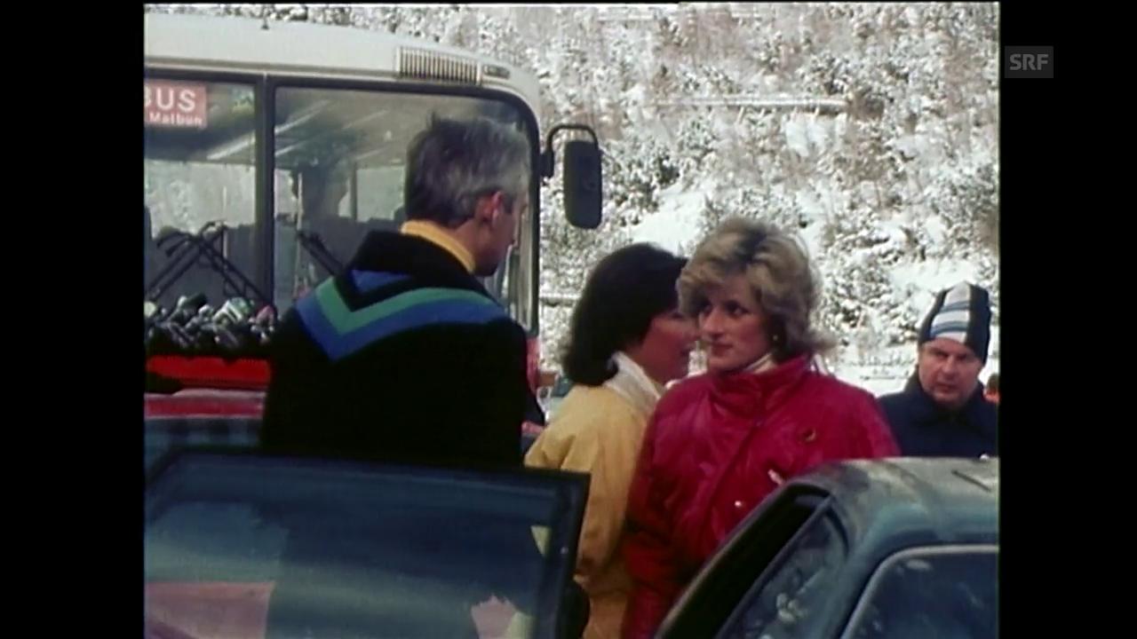 Diana und Charles machen Ferien in der Schweiz (Agenturen 1985)