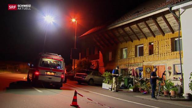 Video «Drei Verletzte nach Schiesserei in Hagendorn» abspielen