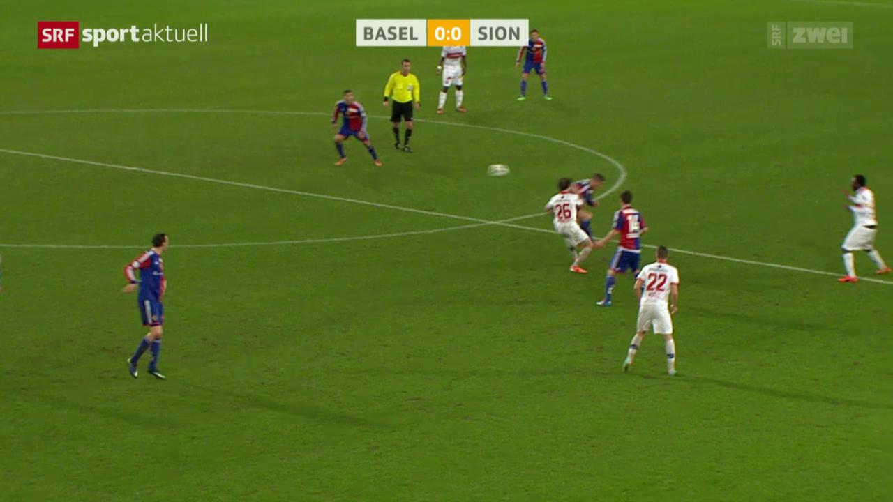 Fussball: Super League, Basel - Sion