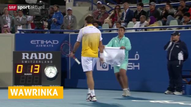 Video «Tennis: Stan Wawrinka verliert gegen Novak Djokovic («sportaktuell»)» abspielen