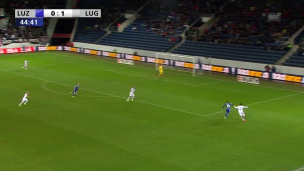 Video «Marco Schneuwly erzielt für Luzern das 1:1 per Handspenalty» abspielen