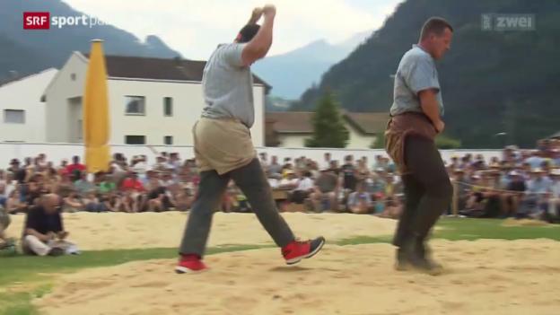 Video «Schwingen: Bündner-Glarner Schwingfest in Schiers» abspielen