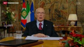 Video «Giorgio Napolitano tritt zurück » abspielen