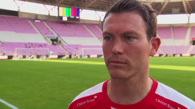Video «Nati-Captain Lichtsteiner: «Es wird ein spezielles Spiel gegen Belgien»» abspielen