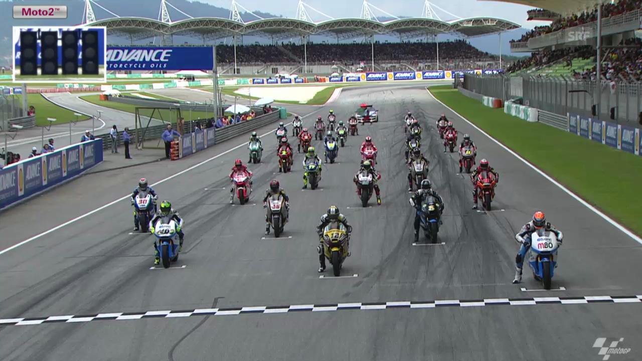 Motorrad: Start und Zieleinfahrt beim GP Sepang