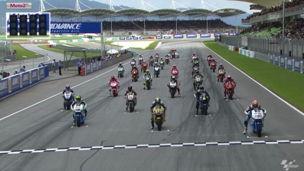 Video «Motorrad: Start und Zieleinfahrt beim GP Sepang» abspielen
