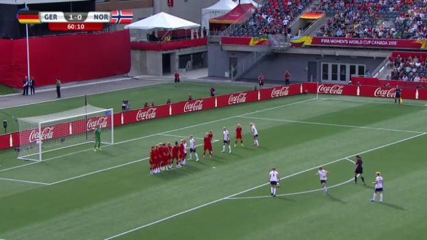 Video «Fussball: Frauen-WM, Deutschland-Norwegen, Tor Mjelde» abspielen