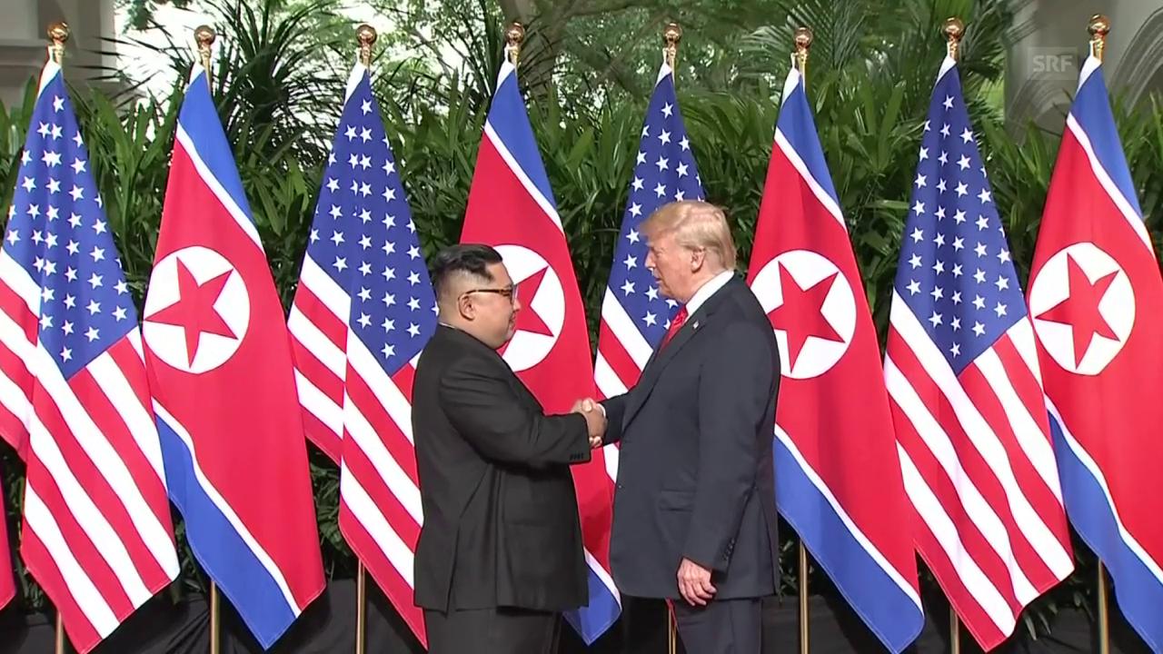 Nordkoreas Machthaber Kim zu Gipfel mit Trump gelandet