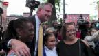 Video «Bill De Blasio ist New Yorks neuer Bürgermeister» abspielen