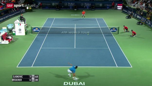 Video «Tennis: Dubai, Final Federer - Djokovic» abspielen
