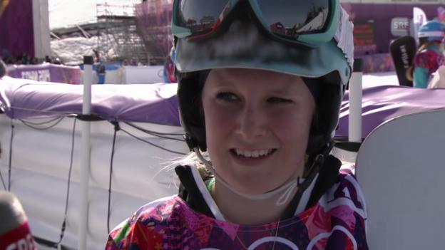 Video «Snowboard: Parallel-Slalom Frauen, Interview mit Julie Zogg (sotschi direkt, 22.2.2014)» abspielen