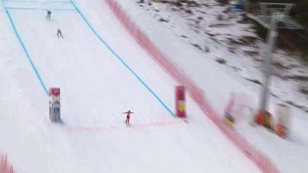 Video «Freestyle-WM in Kreischberg: Skicross Frauen, Viertelfinal mit Fanny Smith» abspielen