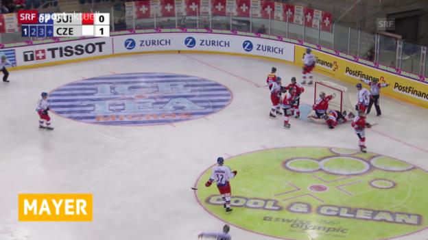 Video «Eishockey: Robert Mayer zu Servette» abspielen