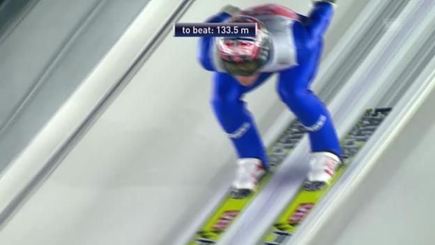 Video «Skispringen: Vierschanzentournee, Quali-Sprung von Bardal in Oberstdorf» abspielen
