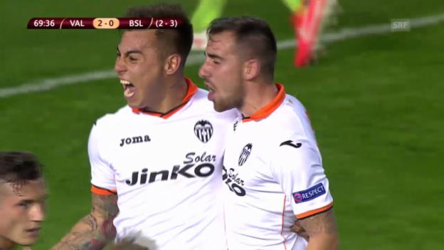 Video «Fussball: Europa League, Viertelfinal-Rückspiel Valencia - Basel, Zusammenfassung» abspielen