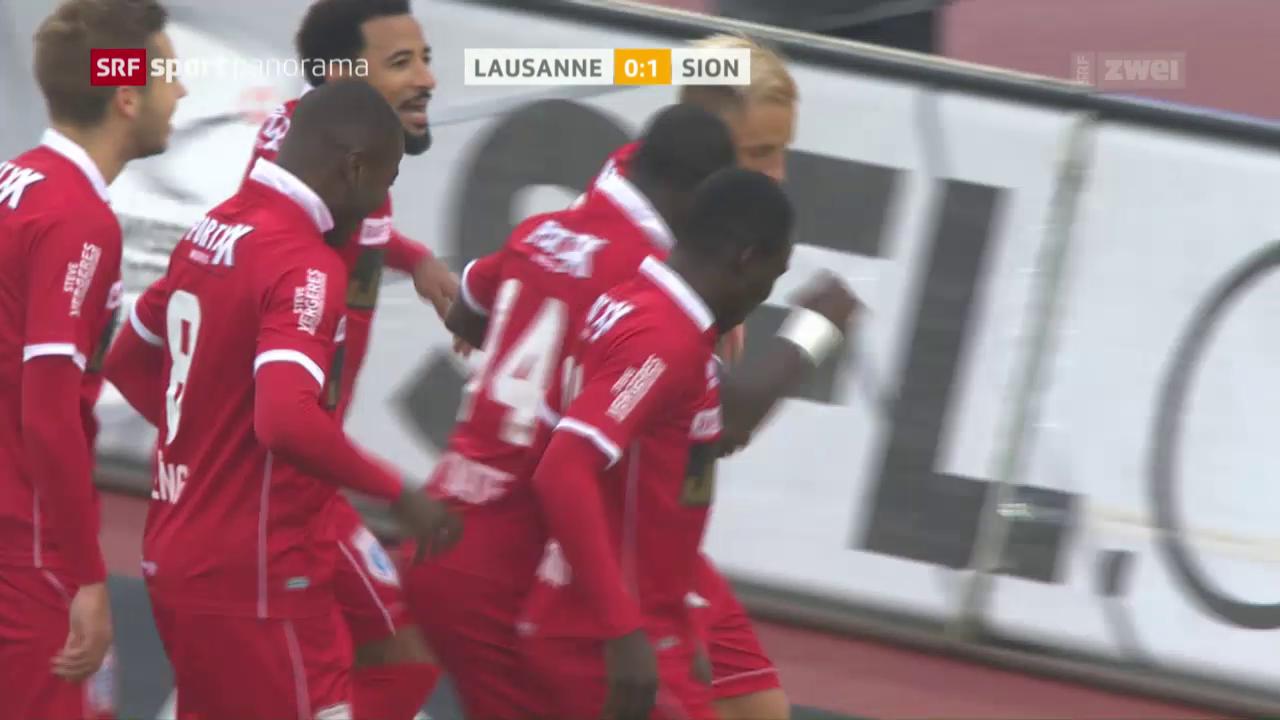 Fussball: Super League, 12. Runde, Lausanne - Sion