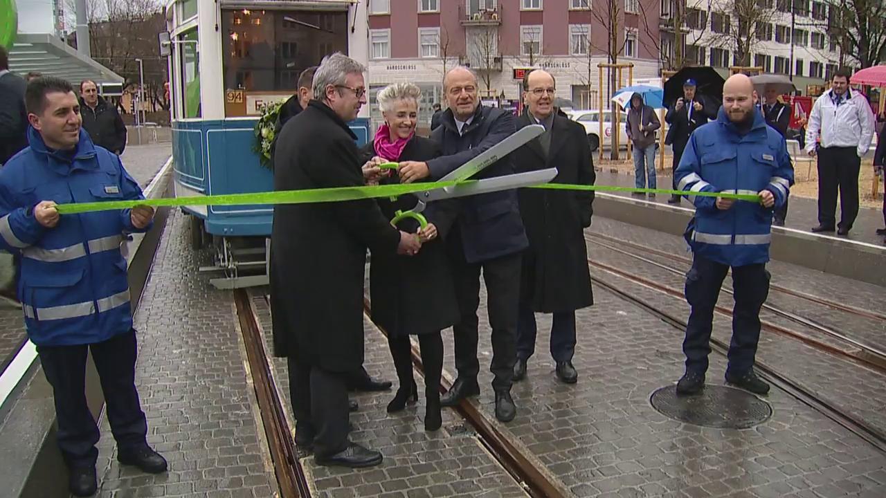 Eröffnung Tram Hardbrücke
