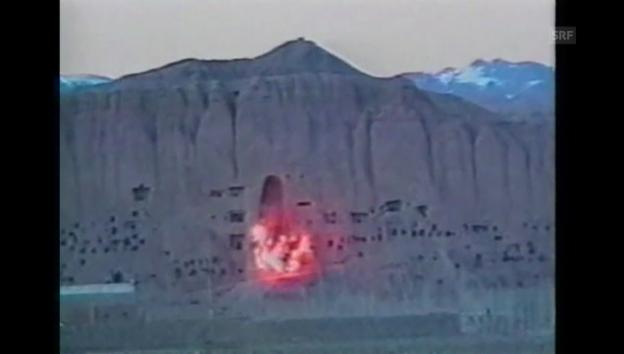 Video «Zerstörung der Buddha-Statuen in Bamian (1992)» abspielen