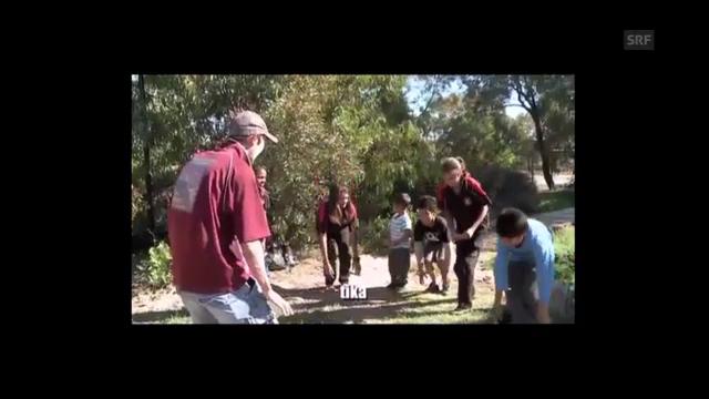 Kaurna-Unterricht mit Jack Buckskin (Univ. of Adelaide/ Youtube)