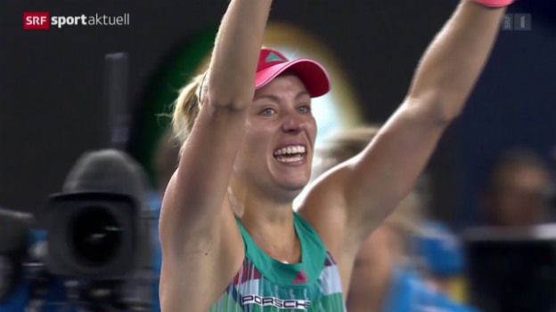 Video «Kerber gewinnt überraschend die Australian Open» abspielen