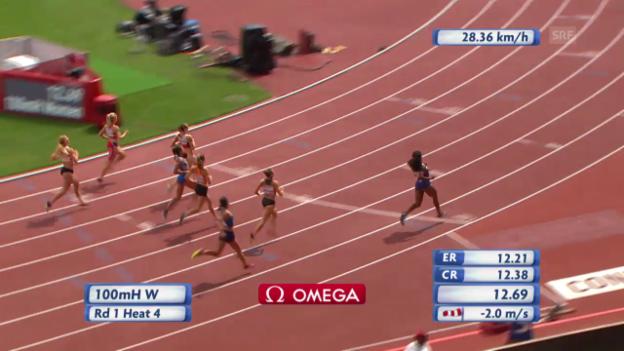 Video «Leichtathletik: 100 m Zbären» abspielen
