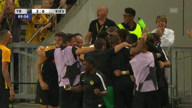 Video «Die Tore bei Young Boys - Dynamo Kiew» abspielen