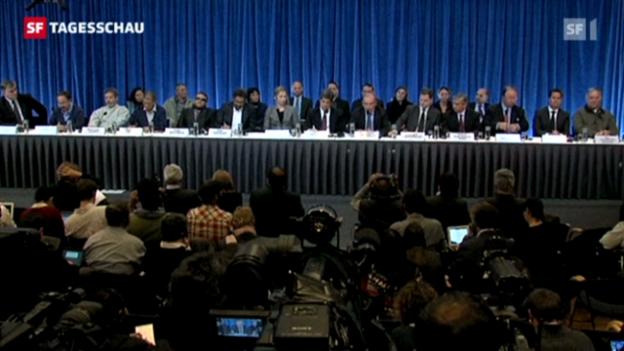 Video «Neue Friedensverhandlungen zwischen der Guerillagruppe «Farc» und der kolumbischen Regierung (Tagesschau 18.10.2012, 19:30 Uhr)» abspielen