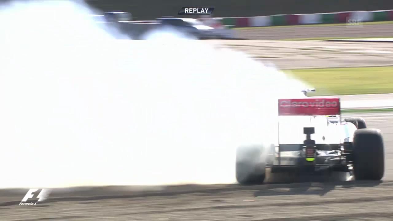 Formel 1: Sergio Perez mit Crash im Training (unkommentiert)