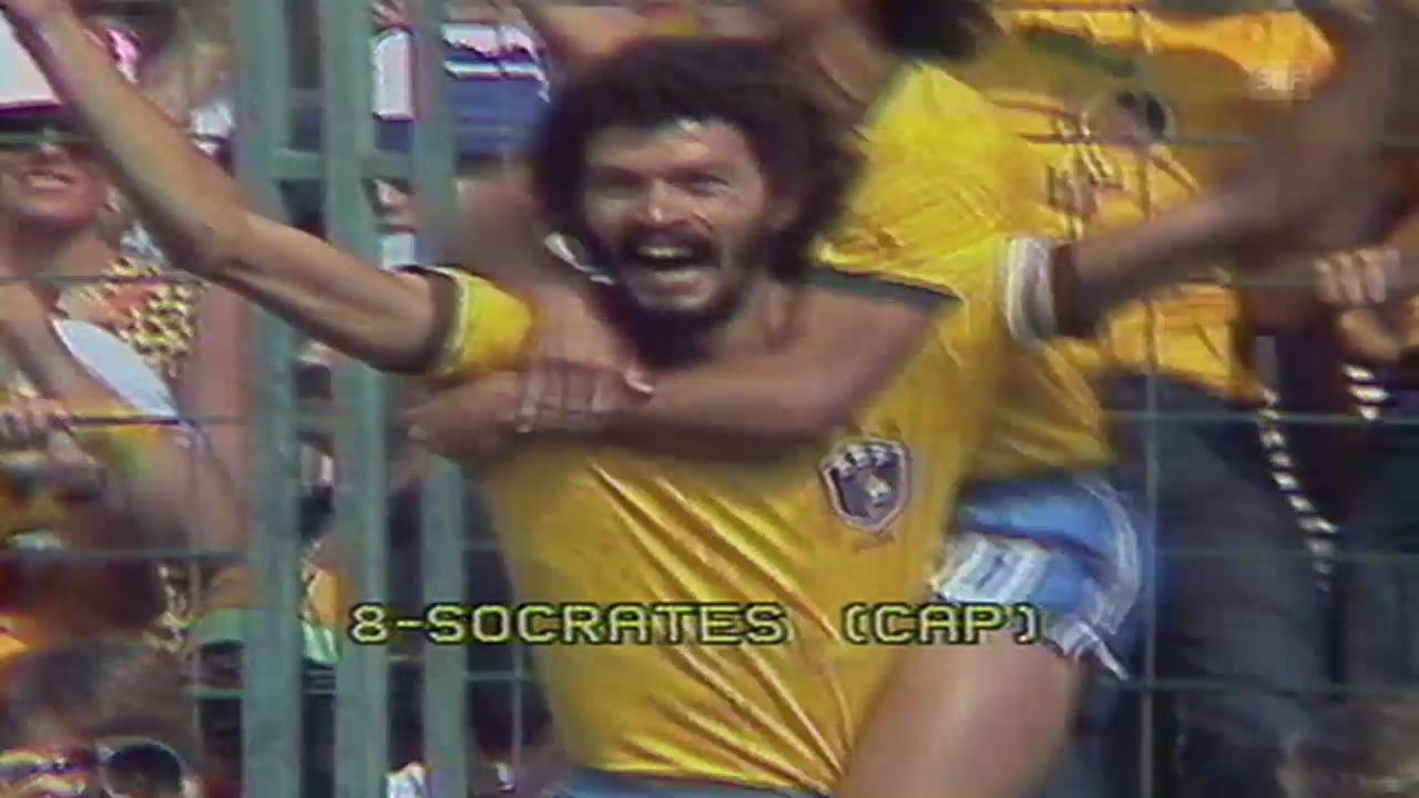 Fussball: Socrates' Tor an der WM 1982 gegen Italien
