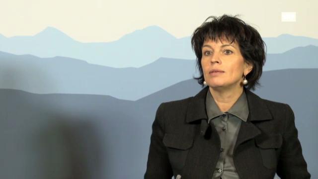 Bundesrätin Doris Leuthard zur Absichtserklärung