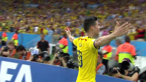 Video «Rodriguez: 2 Tore gegen Uruguay» abspielen