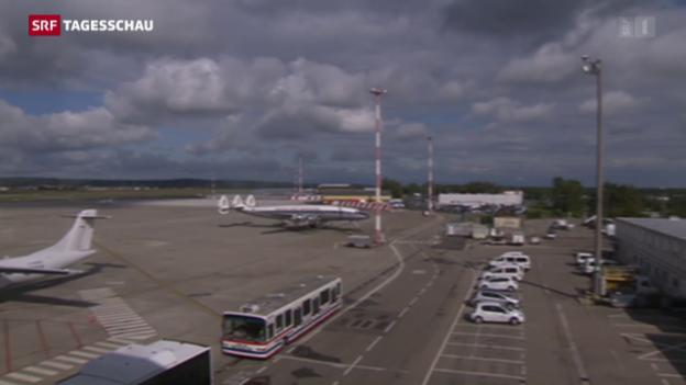 Video «Einigung im Steuerstreit um Flughafen Basel-Mühlhausen» abspielen