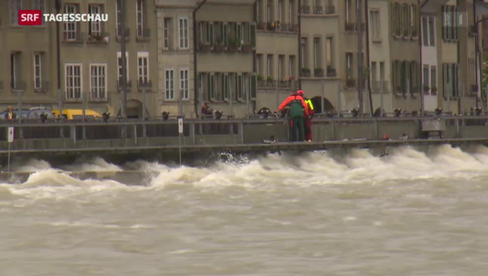Hochwassergefahr und Erdrutsche in der Schweiz