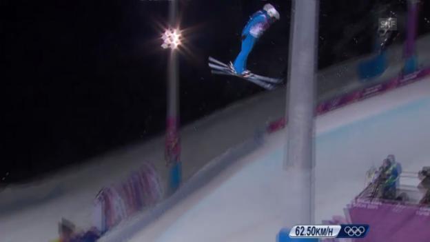 Video «Ski Freestyle: Zusammenfassung Springen Frauen (14.02.2014)» abspielen